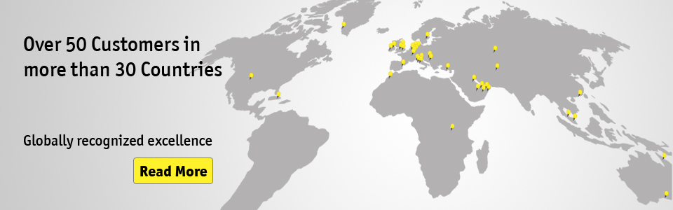 Over 50 Customers in more than 30 Countries