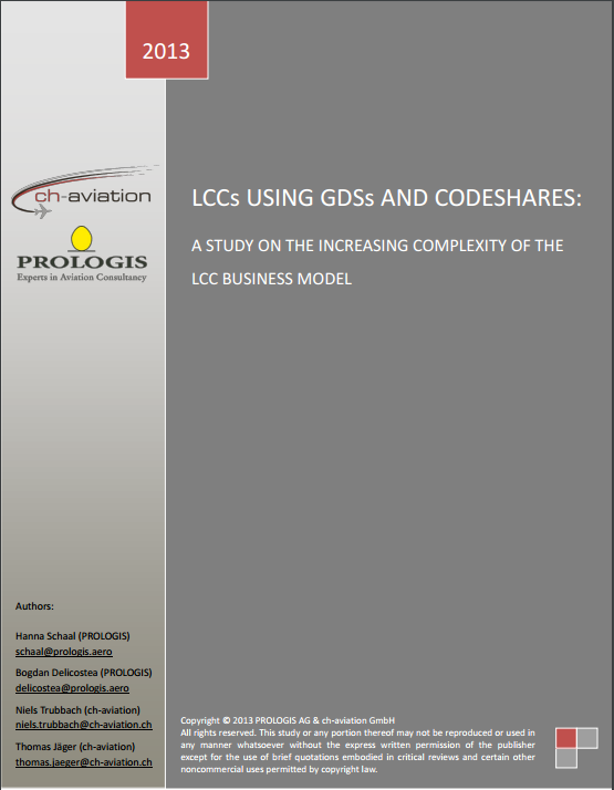 LCCs using GDSs and Codeshares. A study on the increasing complexity of the LCC business model